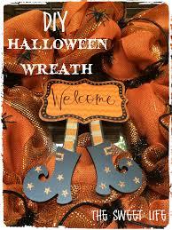 How To Make Halloween Mesh Wreaths by Halloween Deco Mesh Wreath The Sweet Life