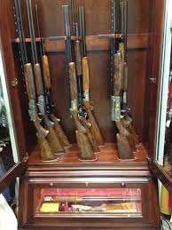 Built In Gun Cabinet Plans Custom Gun Cabinets Amish Custom Gun Cabinets