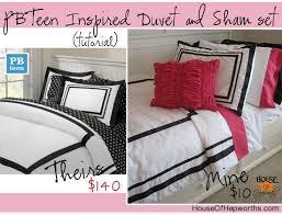 Monogrammed Comforter Sets Pbteen Inspired Duvet U0026 Sham Tutorial Bedding Week