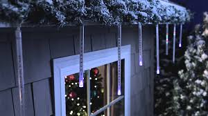 best deal on led icicle lights philips led cascading icicle light set 12 count can e youtube