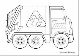 surprising cow face coloring page with garbage truck coloring page