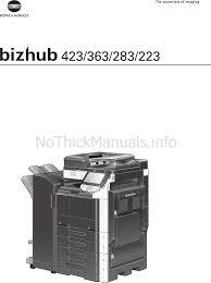 manual de instrucciones konica minolta bizhub 423 impresora