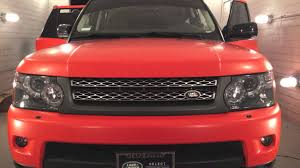 range rover pink interior custom satin orange vinyl wrap range rover sport supercharged sd