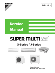 daikin air conditioning service manuals air conditioner databases