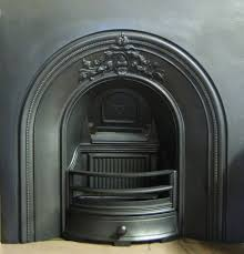 lansdown victorian period arched cast iron fireplace insert
