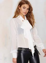 big bow blouse shop see through sheer sleeve top big bow bow