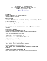 Football Coaching Resume Samples by Football Coaching Resumes Contegri Com