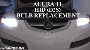 car replacement light bulb size guide acura tl hid d2s headlight bulb replacement youtube