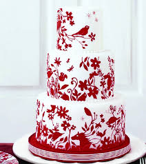 red wedding cake design idea in 2017 bella wedding