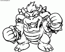 dry bowser coloring pages coloring home