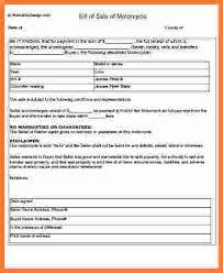 12 printable motorcycle bill of sale stationery bills