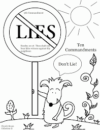kindergarten ten commandments coloring pages coloring home