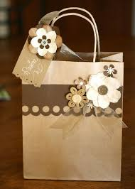 Handmade Gift Wrapping Paper - cute brown paper gift bag picmia