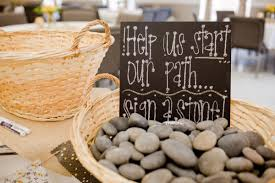 signing rocks wedding guest book could use small stones or actual stepping stones great