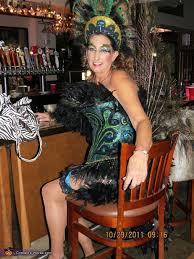 Womens Peacock Halloween Costume Peacock Showgirl Homemade Halloween Costume