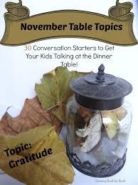 november table topics parents