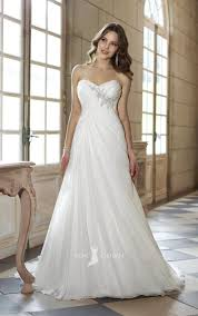 strapless wedding dress strapless sweetheart a line empire asymmetrical pleated wedding