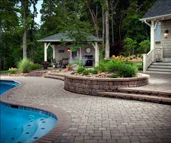 iddylic swimming pool closed concrete brick floor right for