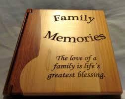 engraved wood personalized photo album