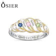 mothers rings cheap 925 sterling sliver custom friend family birthstone name rings