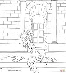 the melancholy by sandro botticelli coloring page free printable