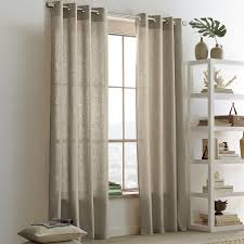 linen cotton grommet curtain platinum west elm