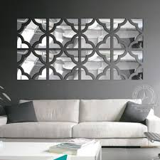 4 squares set big size 3d acrylic mirror surface wall sticker