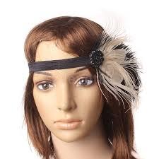 1920 hair accessories wedding bridal flapper headband feather 1930 s 1920 s
