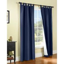 Navy Tab Top Curtains Thermalogic皰 Weathermate 54 Inch Tab Top Window Curtain Panel Pair