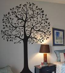 vinyl black tree top branches wall decal tree branch
