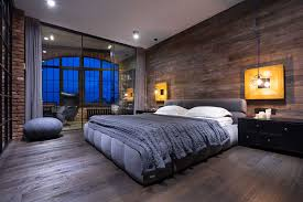chambre loft beau loft industriel à kiev au design intérieur résolument masculin