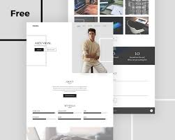 Resume Psd Template Alex Free Personal Portfolio And Resume Psd Template Uideck