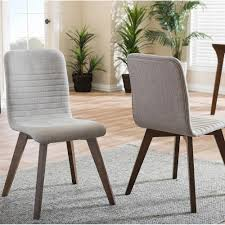 dining chairs benches kitchen dining room furniture the sugar light gray fabric upholstered dining chairs set of 2