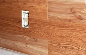 inexpensive backsplash idea faux plank wall 4