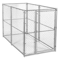 cl l home depot lucky dog 6 ft h x 5 ft w x 10 ft l modular chain link kennel kit