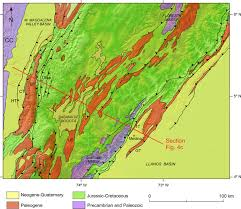 Map Of Colombia Shortening Structural Relief And Drainage Evolution In Inverted
