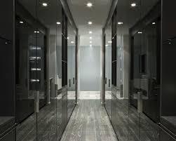 closet luxury round mirror white chair fancy walk in closet black