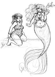 sketch rubymoon pinup and mermaid by i heart link on deviantart