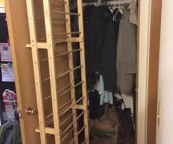 Shoe Rack For Closet Door The Door Shoe Rack