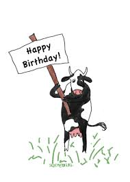 Cow Birthday Card Cow Birthday Card Handmade Cow Birthday Cards