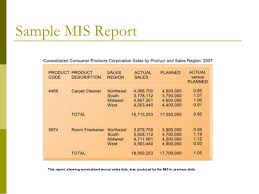 mi report template management information system mis