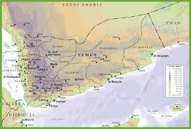 Southwest Asia Physical Map by Yemen Maps Maps Of Yemen
