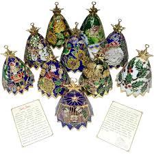 10 santa sarna cloisonne bell ornaments sold on ruby