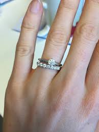 my wedding ring is my wedding band overpowering my e ring show me your 7