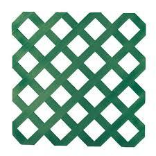 green vinyl lattice the home depot