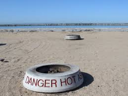 Beach Fire Pit by Board Extinguishes Bonfires At Doheny Capo Beaches Laguna
