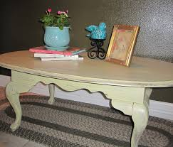 queen anne style coffee table aged for a provencal rustic french