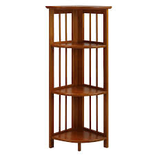 Corner Bookcase Casual Home 315 15 4 Shelf Corner Folding Bookcase