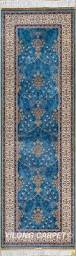 Tropical Accent Rugs Blue Rug Runner Persian Rug Oriental Turkish Carpet Hand Knotted