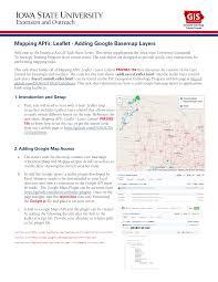 Leaflet Google Maps Mapping Api U0027s Leaflet Adding Google Basemap Layers Pdf Download